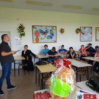 Spotkanie z gimnazjalistami z Rudnika nad Sanem