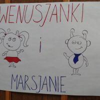Plakat w ramach projektu Wenusjanki i Marsjanie